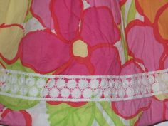 Lilly Pulitzer Child 2T Skirt Floral Elastic Lined Lace Girl Lady Summer #LillyPulitzer #Everyday