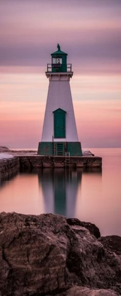 Lighthouse in Port Dalhousie, the Welland Canal, Ontario…