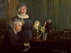 Edvard Grieg and wife / Painting by Kröyer #Peter #Severin #Kroyer #weewado #peter #severin #kroyer #married