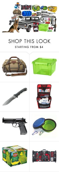 """""""The Walking Dead Car"""" by werewolf-gurl ❤ liked on Polyvore featuring Coleman, Handle, Maglite, Ultimate, Energizer, Beretta, Warehouse and GSI Outdoors"""