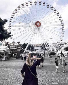 Instagram, Riesenrad, Vienna, Wien, Prater, inspiration, ferris wheel, wheel, blue sky, inspo, summer, festival, boho
