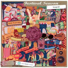Festival Season #plaindigitalwrapper #pdw #scrapbook #digitalscrapbook #designsbyromajo