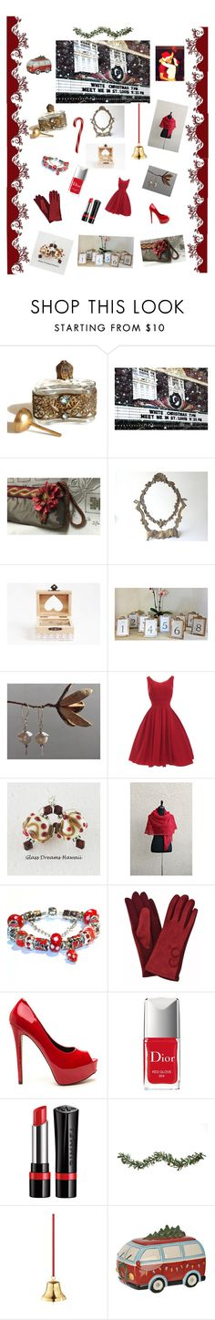 """""""Christmas Eve"""" by pippinpost on Polyvore featuring Christian Dior, Rimmel, Improvements, Georg Jensen, vintage, holiday, gifts, polyvoreeditorial, integrityTT and EtsyShops"""