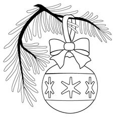 Ornament On A Christmas Tree Coloring Pages See the category to find more printable coloring sheets. Also, you could use the search box to find what y. Coloring Sheets For Kids, Free Coloring Pages, Printable Coloring Pages, Coloring Books, Colouring, Adult Coloring, Christmas Ornament Coloring Page, Christmas Ornaments, Crochet Lamp
