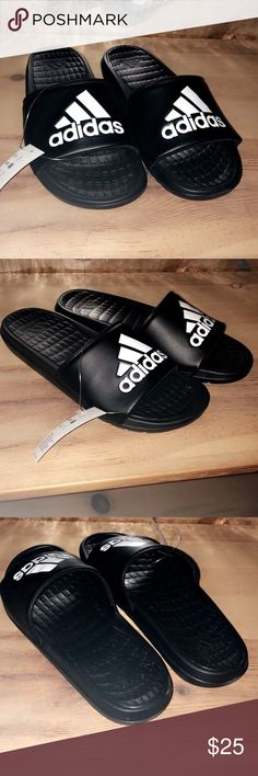 1452c9565b7ec4 Men s black   White adidas slides