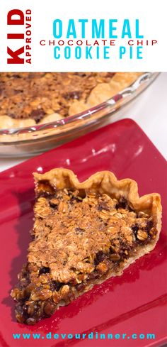 Chocolate Chip Cookie Pie Devour Dinner Quick and easy pie This crowd pleaser is my go to favorite In minutes I can throw this together and there is never any leftovers. Easy Pie Recipes, Best Dessert Recipes, Fun Desserts, Baking Recipes, Cookie Recipes, Desert Recipes, Chocolate Chip Cookie Pie, Oatmeal Chocolate Chip Cookies, Sweet Tarts
