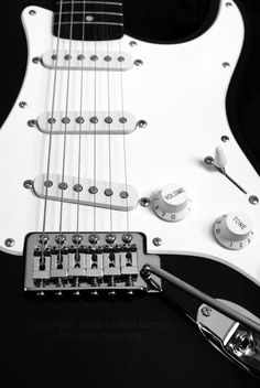 Electric Guitar - Black and White Music Photography Musician Guitarist Rock and Roll Heavy Metal Fender Metallic Fine Art - 8x10 Photograph. #fpoe #music #photography