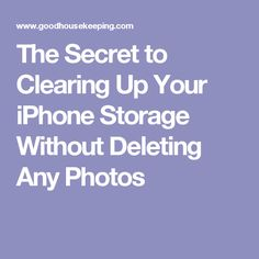 The Secret to Clearing Up Your iPhone Storage Without Deleting Any Photos
