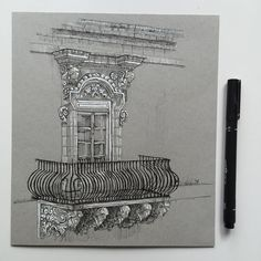 #art #drawing #pen #sketch #illustration #architecture