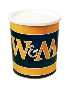 William & Mary Popcorn Tin | One Gallon Gift Tin with 3 Flavors