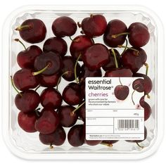 Cherries essential Waitrose 325g ($8.31) ❤ liked on Polyvore featuring food, fillers, food and drink, food & drinks, other, backgrounds, text, phrase, quotes and saying