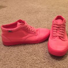 Lacoste pink sneakers Size 7.5. Worn lightly  Lacoste Shoes Sneakers
