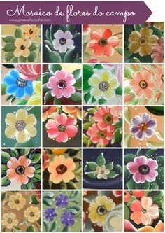 Atelier Gina Pafiadache: Mosaico de Flores do Campo