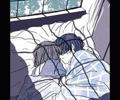 Anime Couples Drawings, Anime Couples Manga, Couple Drawings, Anime Guys, Manga Anime, Anime Art, Romantic Anime Couples, Cute Anime Couples, Anime Couples Sleeping