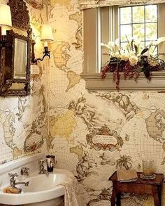 Nautical Bathroom Decorating Ideas... this would be kind of cool for the guest bathroom..