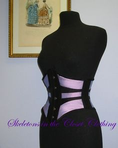 Gothic edwardian victorian ribbon tightlacing by SkeletonsCloset, €285.00