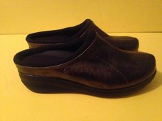 GET FIT BY GRASSHOPPERS PERFORMANCE PLATFORM MULE Metallic CLOG SHOES 9.5 W #GetfitbyGrasshoppers #Mules #WalkingHiking