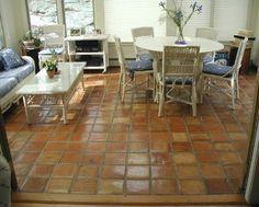 I would love terra cotta tiles in my sunroom.