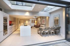 Kitchen extension - ticks a lot of boxes. Kitchen extension - ticks a lot of boxes. Roof Lantern, Open Plan Kitchen, Open Plan Living Room, Home, Interior, Kitchen Design, Urban Interiors, Home Decor, Kitchen Extension