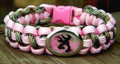 Browning Deer Charm - Pink & Camo