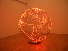 Mona Hatoum's, Hot Spot , 2009, neon and stainless steel