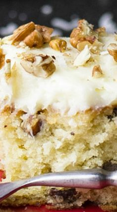Italian cream sheet cake is a classic Southern cake made simple in a sheet pan. With cream cheese icing, pecans, and coconut, it's perfect! Italian Cream Cheese Cake, Italian Cake, Cake With Cream Cheese, Italian Cream Cake Recipe Easy, Italian Creme Cake Recipes, 13 Desserts, Delicious Desserts, Dessert Recipes, Easy Italian Desserts