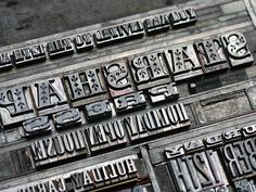 letterpress, lead type, hand set type, typography, metal type, letterpress process