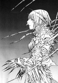 Abara Manga Page 26 Blame Manga, Knights Of Sidonia, Masamune Shirow, Cyberpunk Anime, Scary Art, Manga Artist, Creature Feature, Character Design Inspiration, Japanese Art