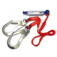 Energy Absorber with double webbing strap supplied complete with a large snap hook suitable for affixing to anchor points.