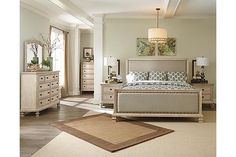 Zenfield Bedroom Bench Brown Finish Nightstands And Traditional