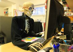 Winter illnesses have cut staffing levels to the bare bones. We're now running on skeleton staff....