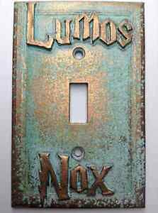 Lumos/Nox Harry Potter Light Switch Cover - Aged Copper/Patina