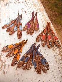 Art Jewelry Elements: Make Your Own ~ Wire-wrapped Feather Bracelet