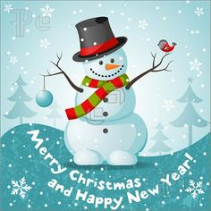 merry christmas clip art | Merry Christmas Snowman Illustration. Vector To Download at ...