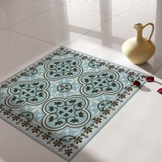 tiles decals rug, floor sticker,  tiles floor decal www.vanill.co