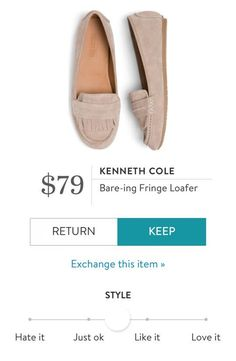 KENNETH COLE Bare-ing Fringe Loafer from Stitch Fix. https://www.stitchfix.com/referral/4292370