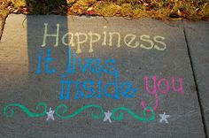 Sidewalk Chalk Project Inspiring The World One Quote At A Time from Divine Diva Inspiration--using sidewalk chalk to inspire girls (project)