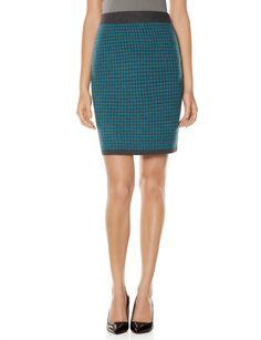 Diamond Pattern Knit Pencil Skirt | Women's Skirts | THE LIMITED