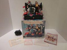 Enesco Sewing Machine Music Box Homespun Holidays Carol of the Bells NO MOTION