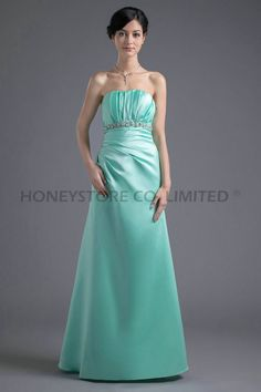 Aliexpress.com : Buy Cheap A line Strapless Floor Length Satin with Crystal Bridesmaid Dresses from Reliable crystal bridesmaid dresses suppliers on HONEYSTORE CO., LIMITED $325.98