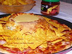 Miel y Limón : PIZZA DE NACHOS Y SALSA CHEDDAR (Telepizza)