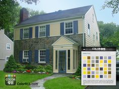 Here's a great example of how choosing a Color911 color theme, can inspire you to  choose the right colors for your home! #Color911 #app #color