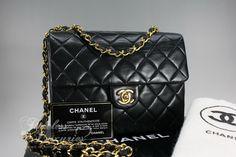 Timeless Luxuries - CHANEL Black Lambskin Mini Classic Flap Bag Gold Hw