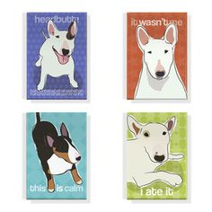 Bull Terrier Magnet 4 Pack, $16, now featured on Fab.