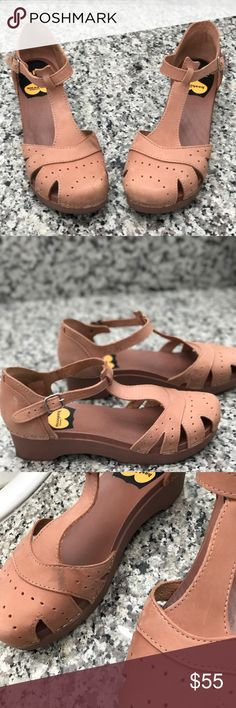 Swedish Hasbeens These Swedish Hasbeens are a blush color and they are really cute on. See picture for scuff mark. These are in great condition. Swedish Hasbeens Shoes Mules & Clogs