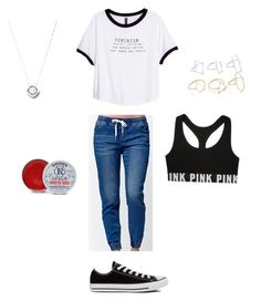 """Teen fashion"" by princessrena on Polyvore featuring Bullhead Denim Co., H&M, Converse, Rosebud Perfume Co. and Forever 21"