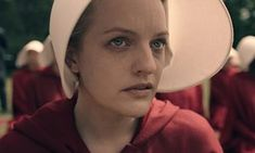 Horrifyingly prescient … Elisabeth Moss as Offred in the forthcoming TV adaptation of The Handmaid's Tale.