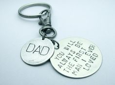 Father of the Bride, Father's Day, Father, Dad, Keychain, The First Man I Ever Loved on Etsy, $24.00