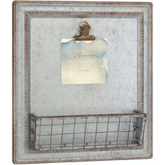 f72aff92a08d Stonebriar Collection Galvanized Metal Message Board with Basket -