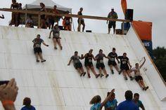 Sliding to the finish line!